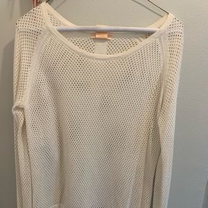 Summer Sweater! White lightweight cotton.